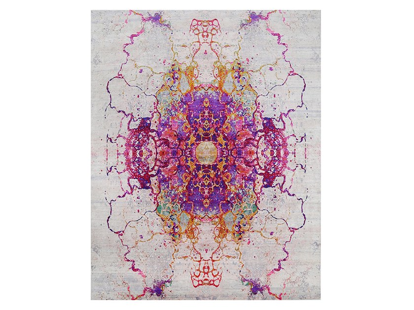 Patterned rectangular silk rug BOHEMIAN SILK | 350 x 255 by EBRU