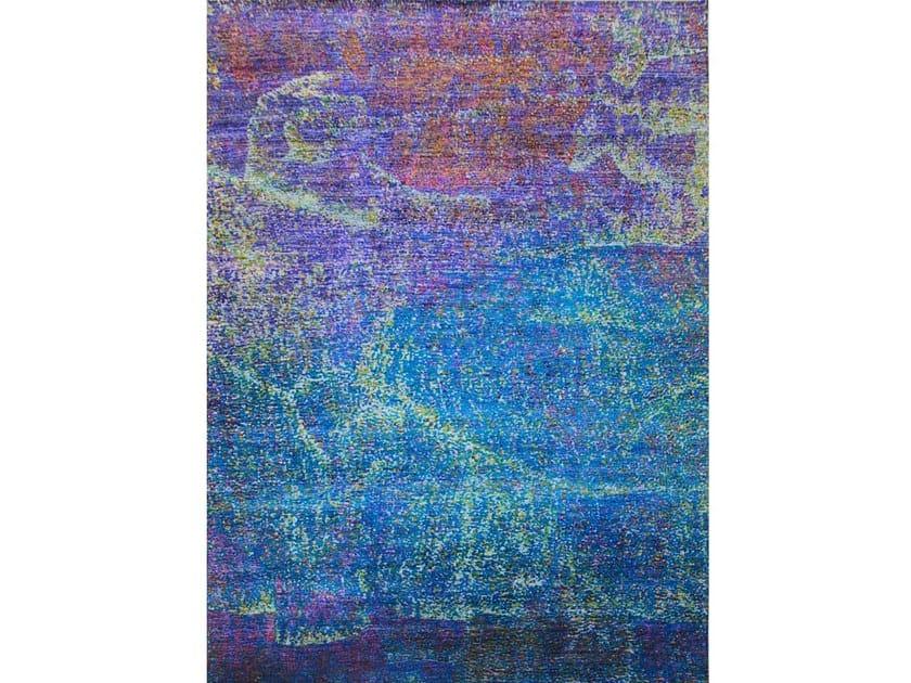 Patterned rectangular silk rug BOHEMIAN SILK | 367 X 271 | Handmade rug by EBRU
