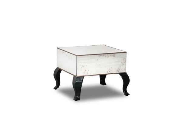 Low square glass coffee table BOITE | Square coffee table by BAXTER
