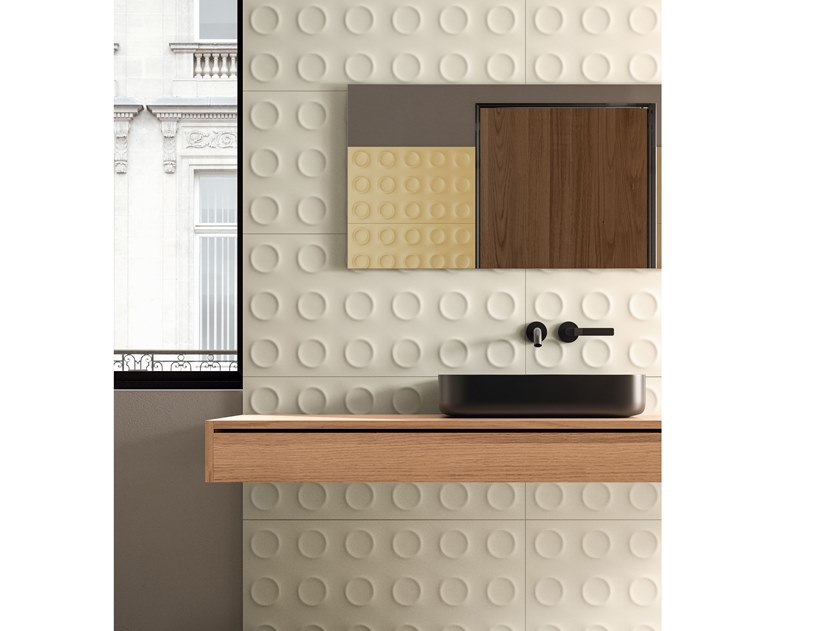 White-paste 3D Wall Cladding BOLD BIANCO Bold Collection By Marca Corona