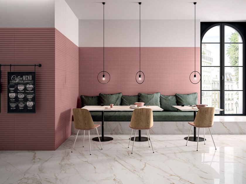 White-paste 3D Wall Cladding BOLD MARSALA Bold Collection By Marca ...