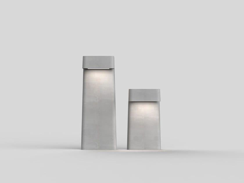 Cement bollard / bollard light BRENTA | Bollard by Neri