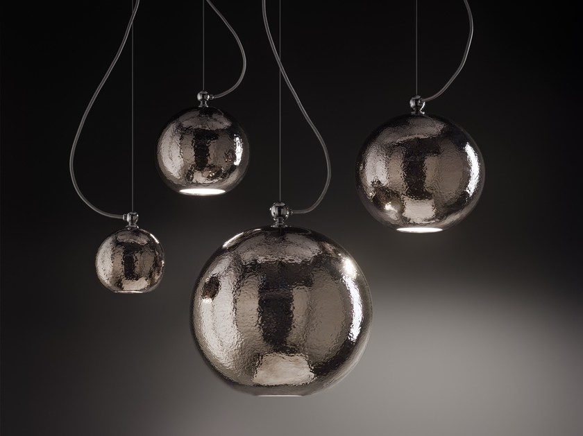 Direct light pendant lamp BOLLE by Aldo Bernardi