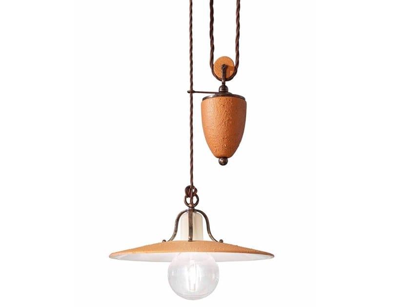 Adjustable ceramic pendant lamp BOLOGNA   Adjustable pendant lamp by FERROLUCE