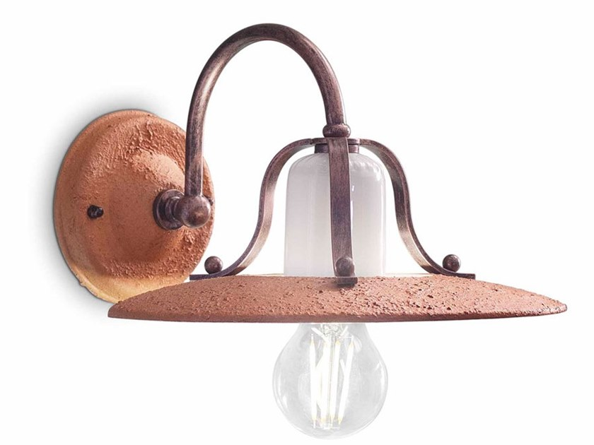 Ceramic wall light with fixed arm BOLOGNA | Wall light by FERROLUCE