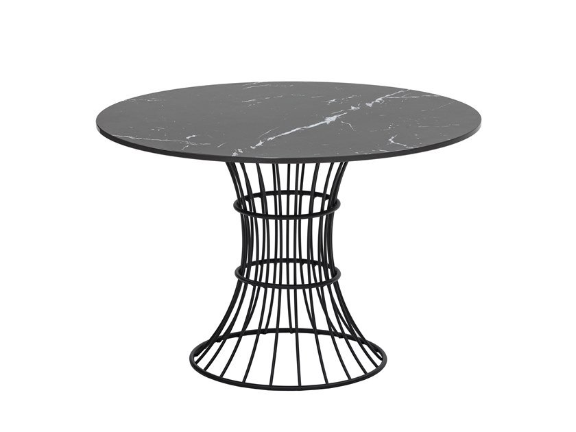 Galvanized steel high side table BOLONIA | Garden side table by iSimar