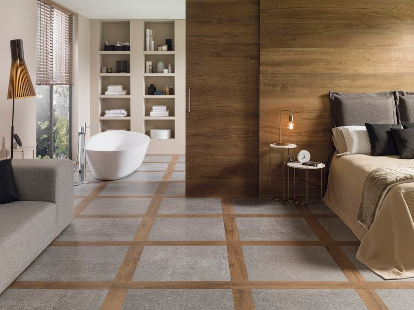 Porcelain stoneware flooring with wood effect ATELIER BOLONIA by Porcelanosa