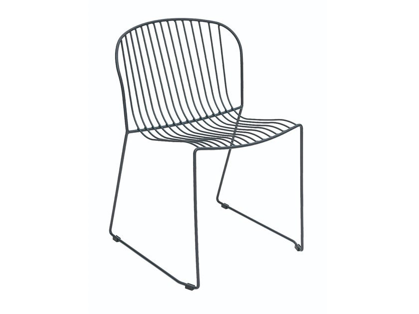 Sled base steel chair BOLONIA | Sled base chair by iSimar