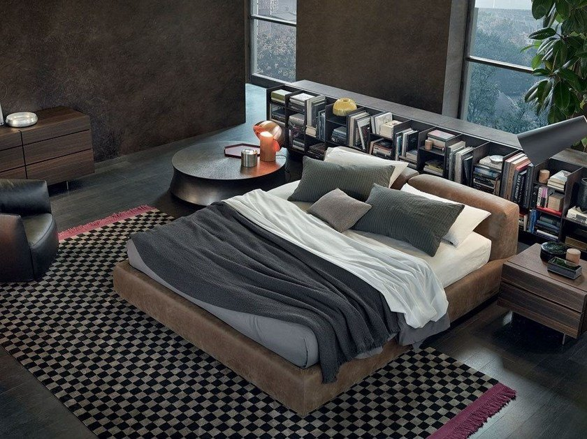 Doppelbett Aus Leder Mit Polsterkopfteil BOLTON | Bett Aus Leder By Poliform
