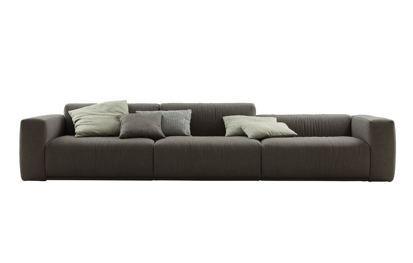 Fabric sofa with removable cover BOLTON | Sofa by poliform
