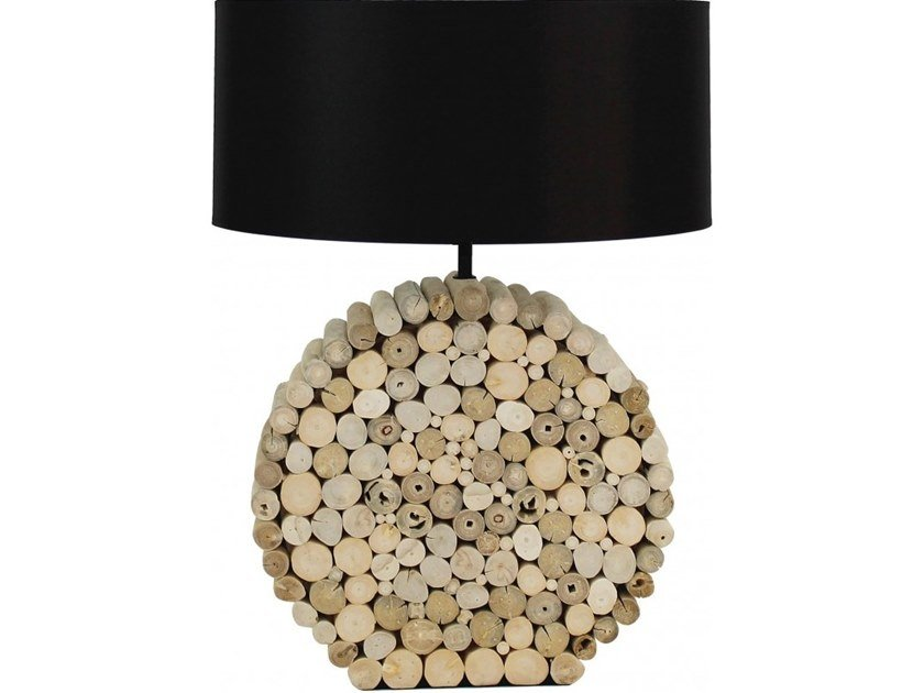 Wooden table lamp BOMBAY by Flam & Luce