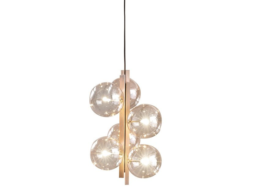 Crystal and metal pendant lamp BON TON by Bonaldo