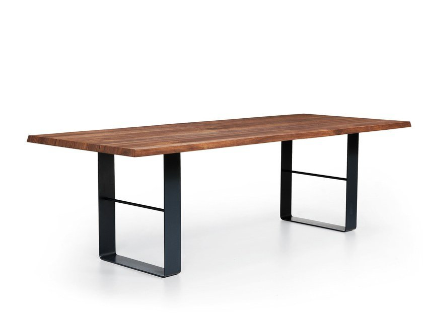 Wooden and metal table BOND by Natisa