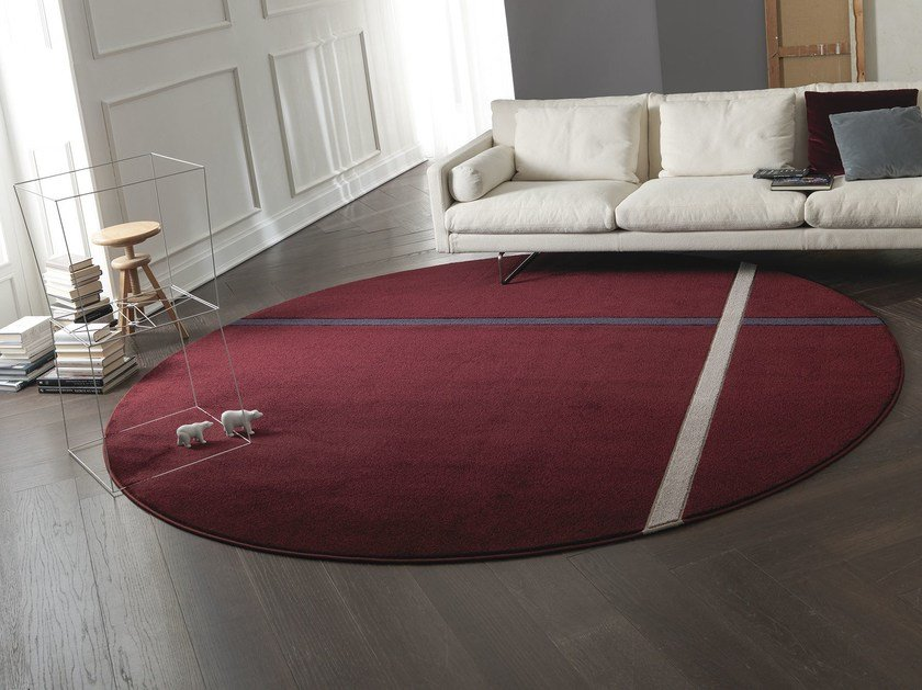 Round fabric rug BONDSTREET by Besana Moquette