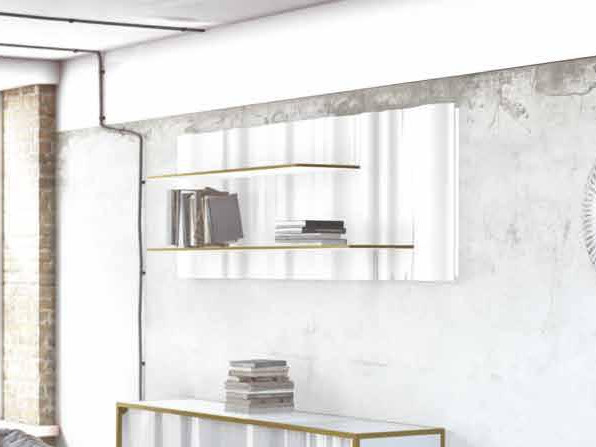 Open floating Solid Surface bookcase MY WAVE | Bookcase by Boffetto