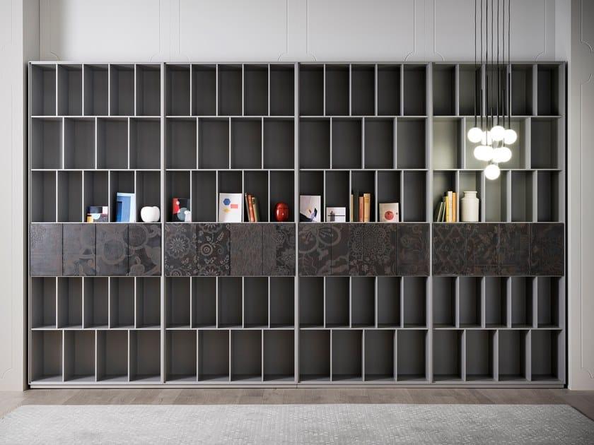 Open lacquered modular bookcase ATENEO | Bookcase by Capo d'Opera