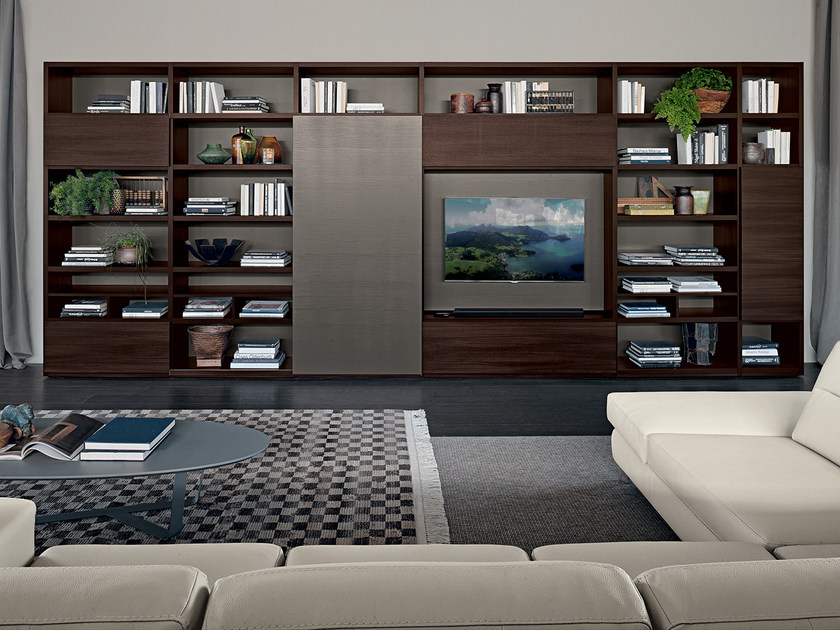 Libreria Porta Tv Legno.Librerie Con Porta Tv Archiproducts