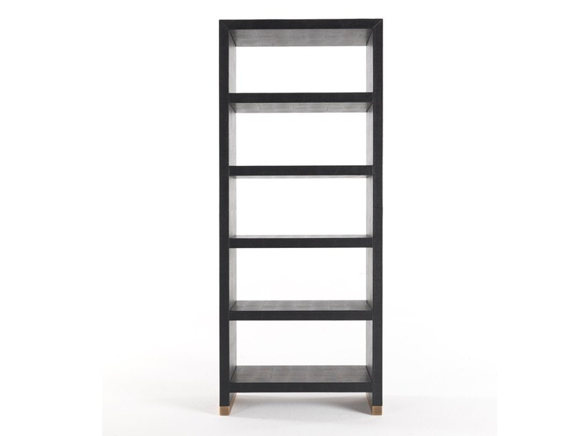 Open leather shelving unit KAY | Bookcase by Gianfranco Ferré Home