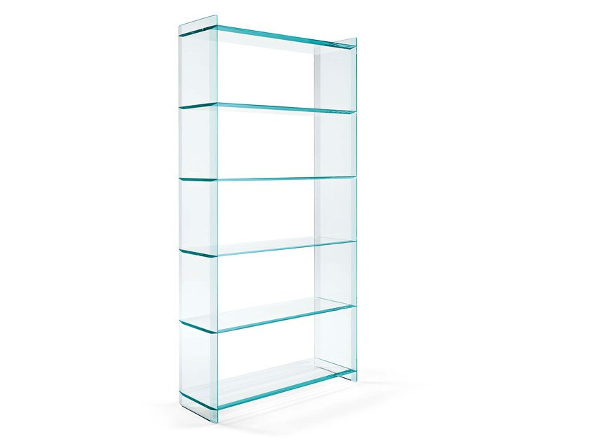 Glass bookcase QUILLER | Bookcase by Tonelli Design