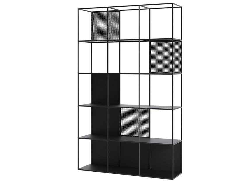 Open powder coated steel bookcase MOTIVO | Bookcase by take me HOME