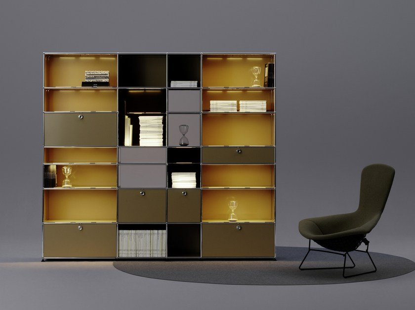 usm haller e modular shelving unit usm haller e collection by usm. Black Bedroom Furniture Sets. Home Design Ideas