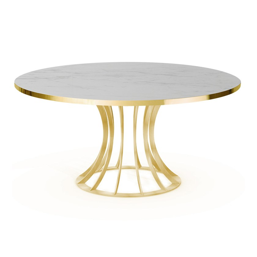 Round steel dining table BOOMERANG | Table by Vela Arredamenti
