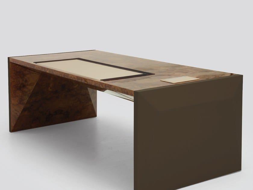 Wood veneer executive desk BOOSTER | Office desk by Tonino Lamborghini Casa