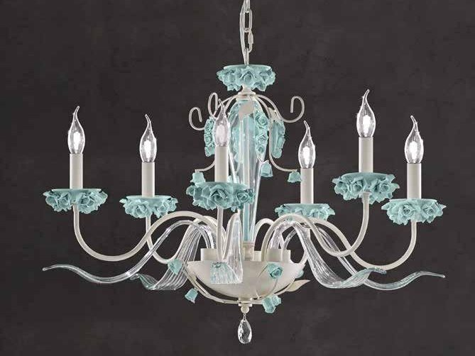 Crystal chandelier with Swarovski® Crystals BORA L6 by Euroluce Lampadari