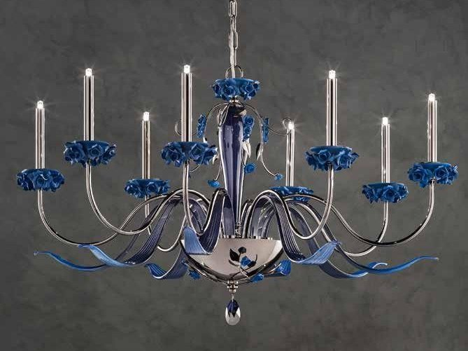 Crystal chandelier with Swarovski® Crystals BORA L8 by Euroluce Lampadari