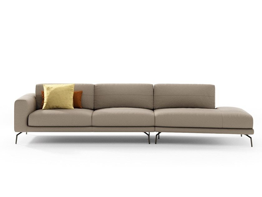 Sectional leather sofa BORA | Leather sofa by NICOLINE
