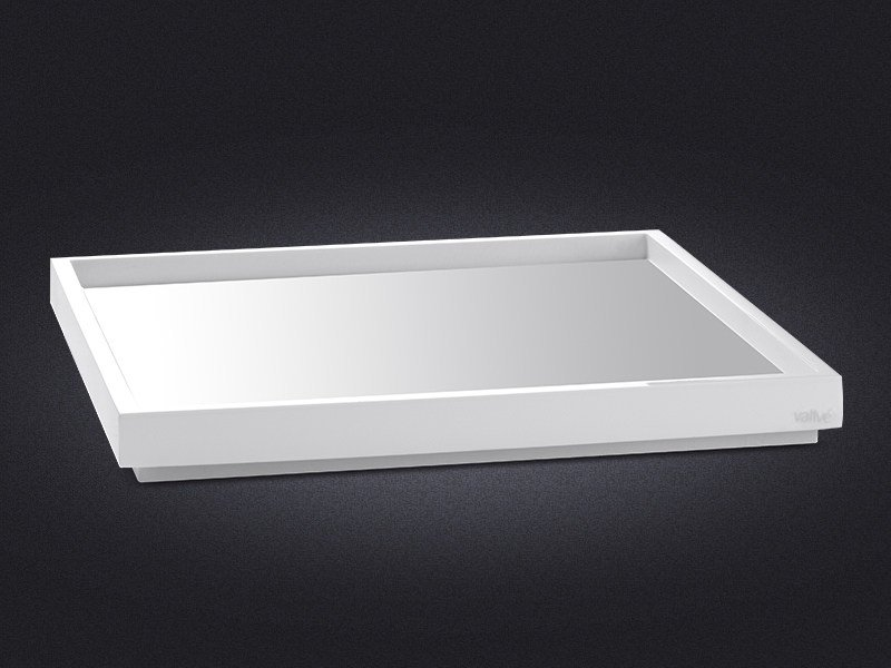 Square resin tray BORDA | Square tray by Vallvé