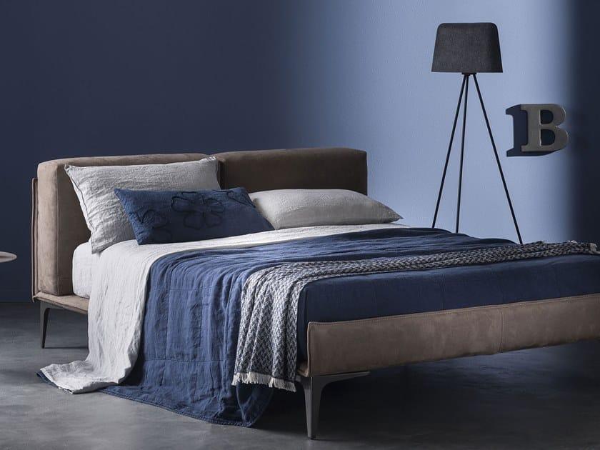 Solid-color linen bedspread BORDI&CORNICI | Bedspread by LA FABBRICA DEL LINO