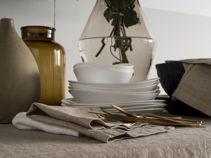 Linen napkin BORDI&CORNICI | Napkin by LA FABBRICA DEL LINO