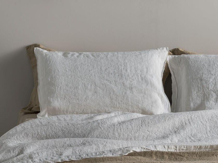 Solid-color linen pillow case BORDI&CORNICI | Pillow case by LA FABBRICA DEL LINO