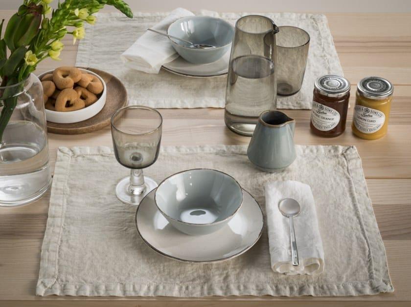 Rectangular linen placemat BORDI&CORNICI | Placemat by LA FABBRICA DEL LINO