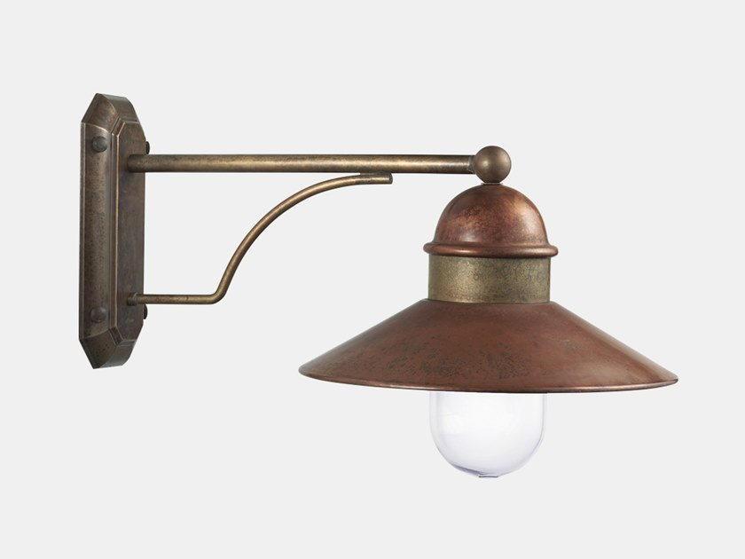 Direct light metal outdoor wall lamp BORGO 244.25.ORT by Il Fanale