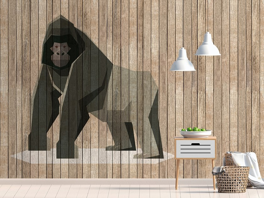 Wood effect Digital printing wallpaper BORN TO BE WILD by Architects Paper