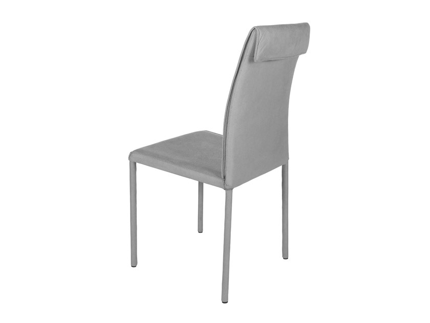 Upholstered high-back chair with removable cover BORSO | High-back chair by Trevisan Asolo