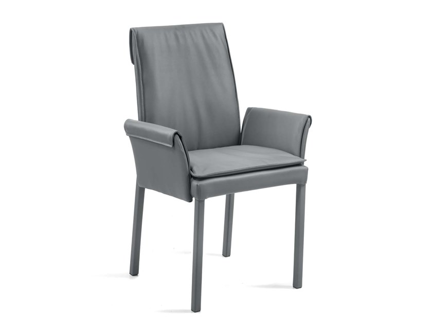 Upholstered high-back chair BORSONA   Chair by Trevisan Asolo