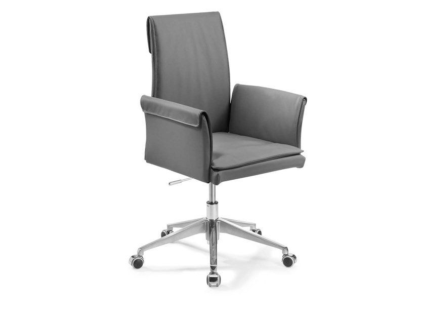 Swivel high-back chair with 5-spoke base BORSONA | Swivel chair by Trevisan Asolo