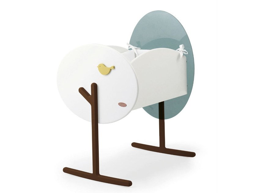 Lacquered rocking cradle BOSCO LEBEBÉ | Cradle by Baby Expert