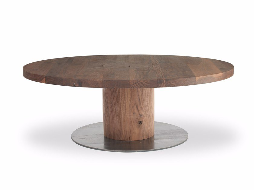 Round Solid Wood Coffee Table BOSS EXECUTIVE SMALL | Round Coffee Table By  Riva 1920