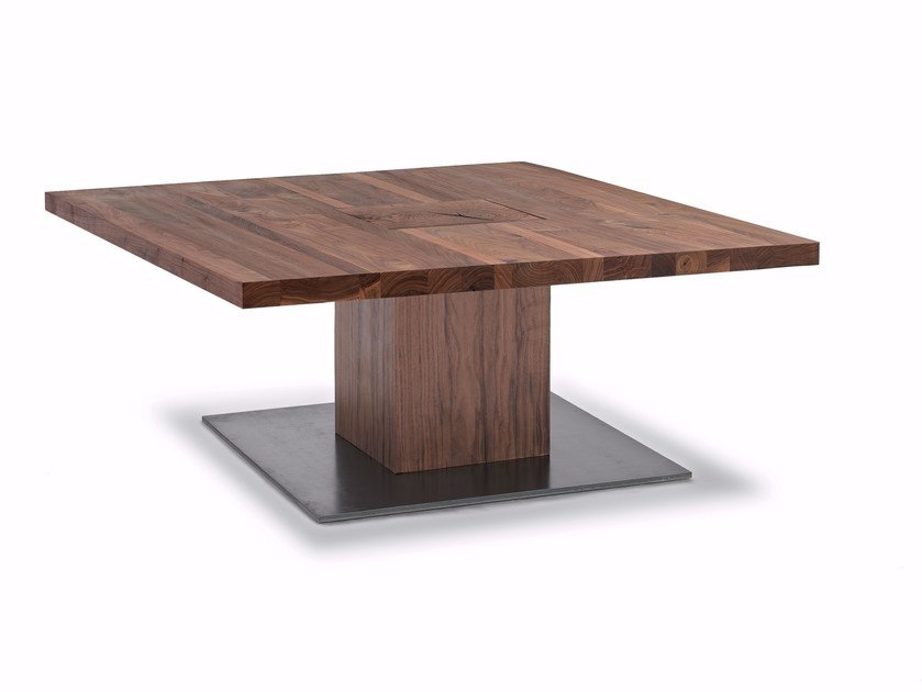 Square solid wood coffee table BOSS EXECUTIVE SMALL | Square coffee table by Riva 1920