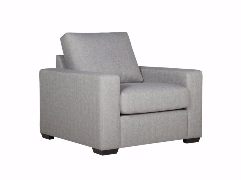 Upholstered fabric armchair with armrests BOSTON | Armchair by SITS