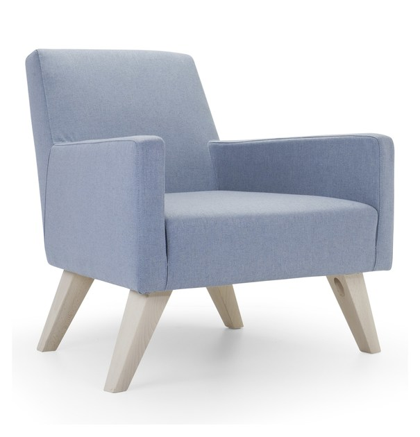 Upholstered armchair with armrests BOSTON LOW | Armchair by Domingo Salotti