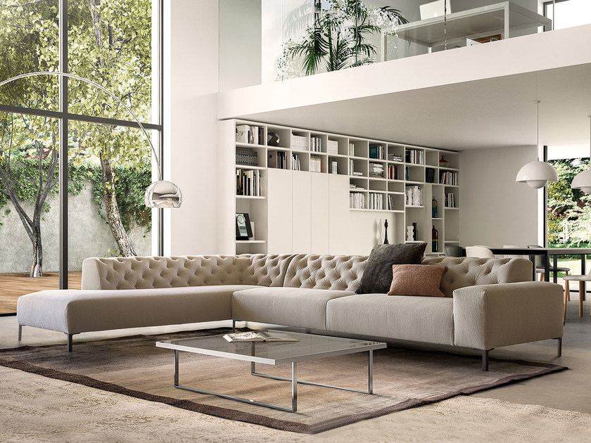 Corner tufted sofa BOSTON | Corner sofa by PIANCA