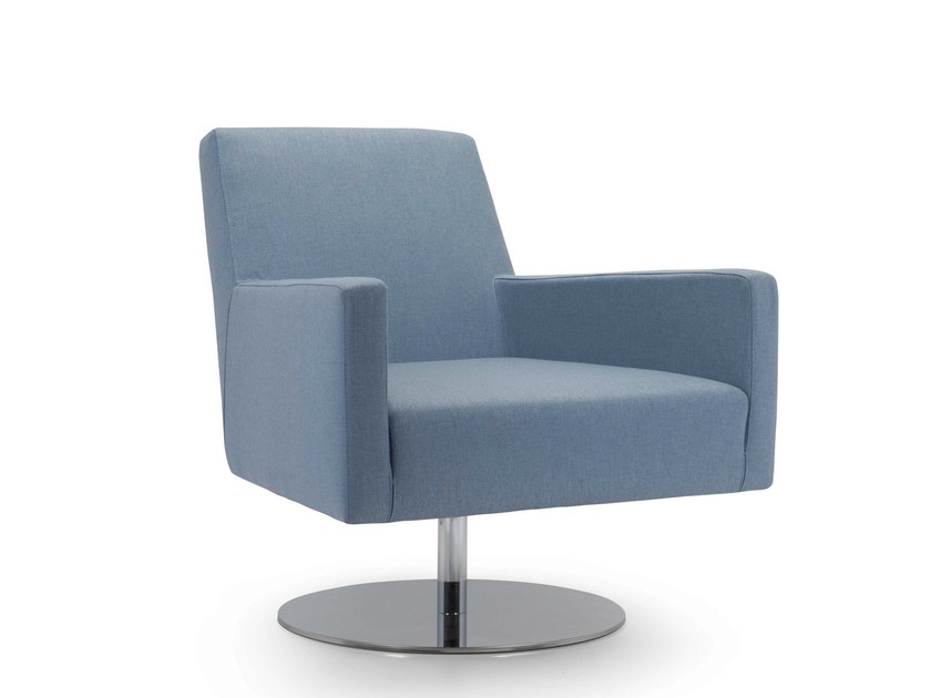 Swivel armchair with removable cover BOSTON LOW | Swivel armchair by Domingo Salotti