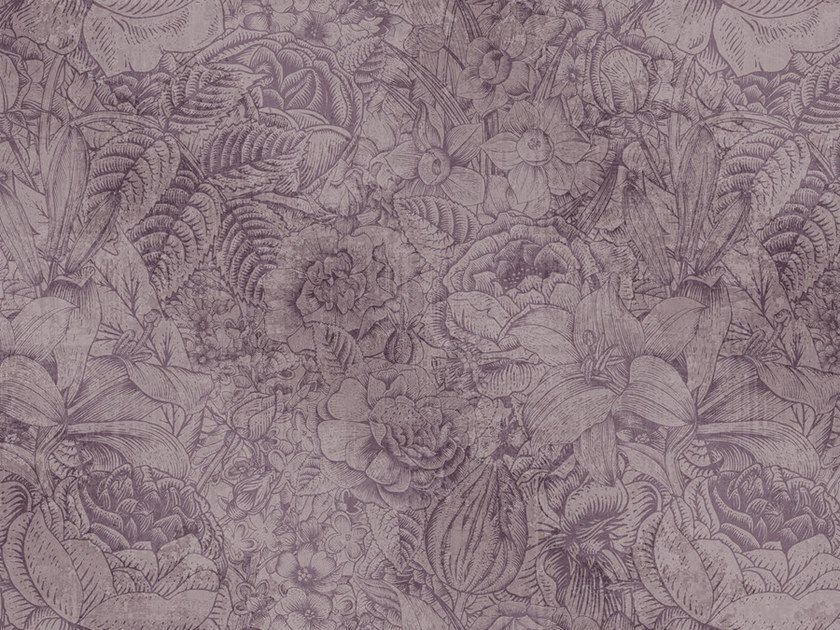 Digital printing wallpaper with floral pattern BOTANICA by Architects Paper
