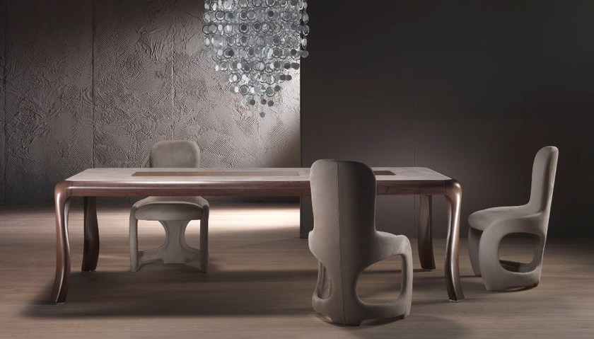 Extending solid wood table BOTERO by Carpanelli Contemporary