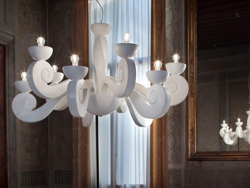 Lampadario a luce diretta in poliuretano espanso BOTERO | Lampadario by Masiero